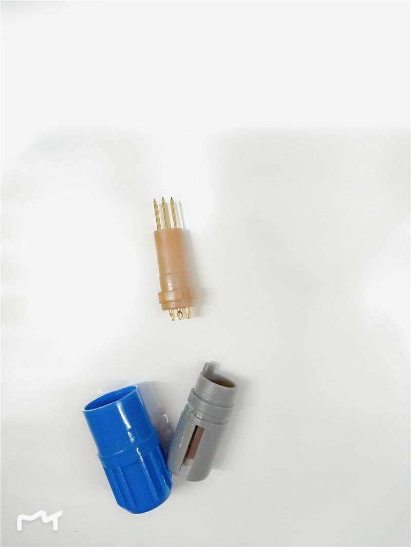 Free Shipping SPO2 lemo connector,4pin double slot 40 degree,3pcs packing
