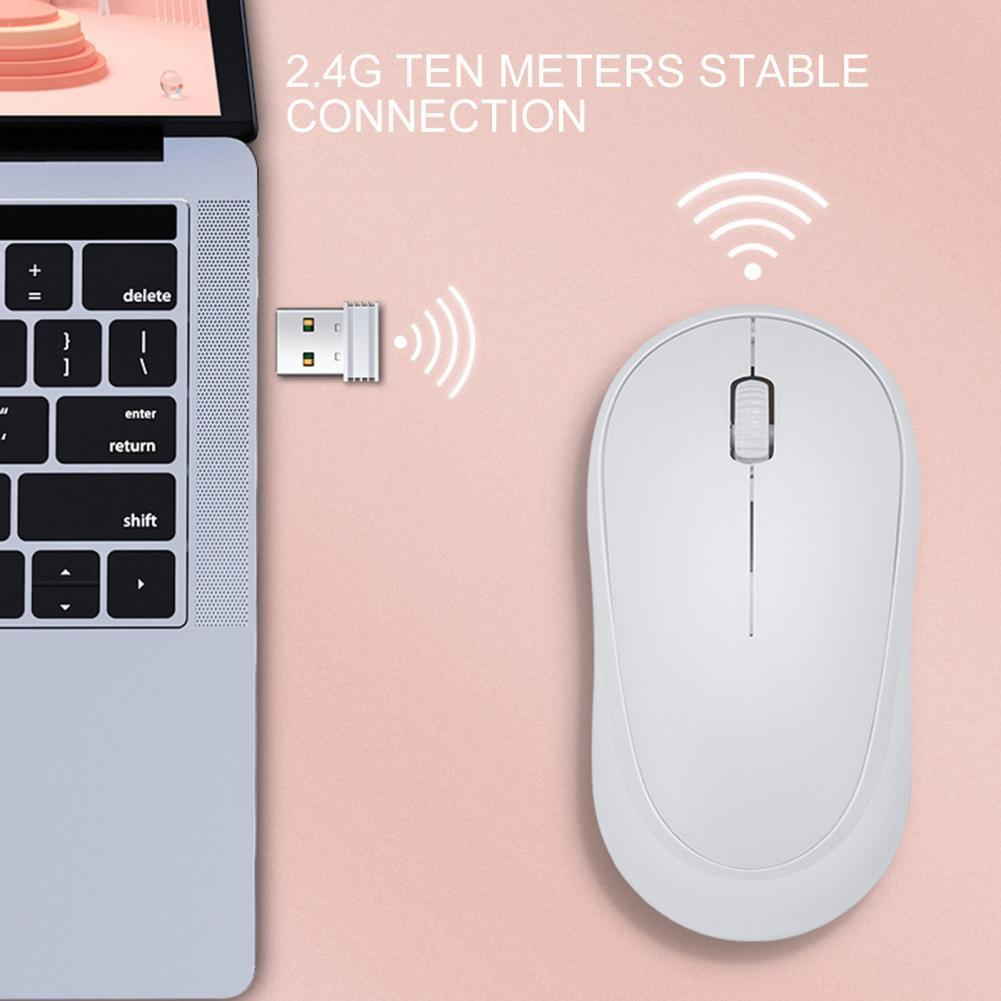 Q18 Wireless Mouse 1600DPI 2.4GHz Portable Cursor Mice Long Service Life Mini Portable Gaming Mouse Computer Accessory