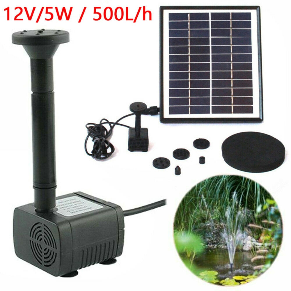 بستان شمسي في الهواء الطلق نافورة مضخة تعمل بالطاقة الشمسية نافورة حديقة بركة مضخة مياه غاطسة بركة 500L/H أو 200L/h