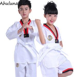 Unisex Sportswear Karate Taekwondo Clothing For Kids Adult Long and Short Sleeved/Pants Training Uniform SW001