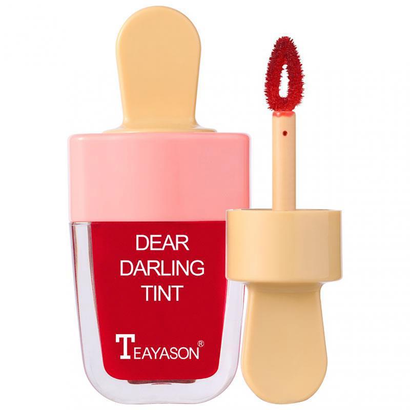 6 Color Ice Cream Fruit Lip Glaze Lasting Waterproof Mirror Non-Stick Cup Lip Gloss Dye Lip Liquid Water Lipstick Cosmetic TSLM1