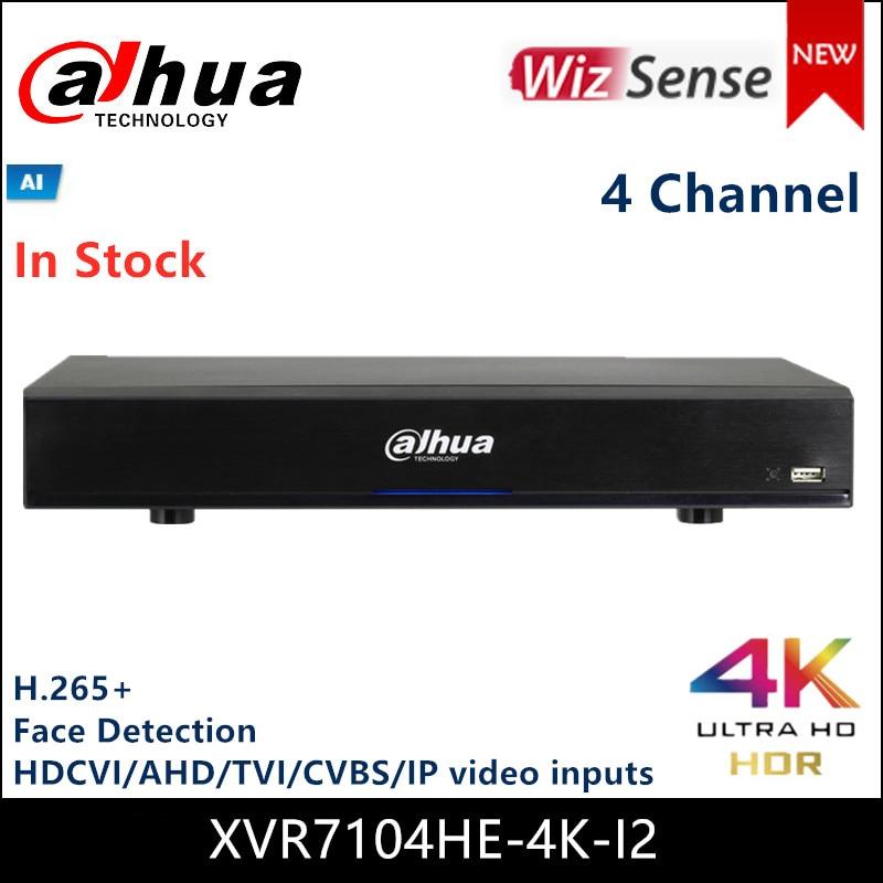 Dahua wizsense série 4k mini xvr XVR7104HE-4K-I2 4 canal h.265 + suporte em tempo real reconhecimento de rosto auto-detectar a busca de ia