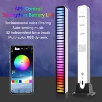 led strip light sound control pickup rhythm light music atmosphere light rgb colorful tube usb energy saving lamp ambient light