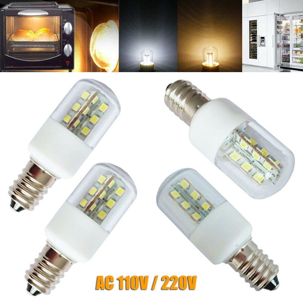 Lâmpada de cristal de micro-ondas 3w led e14 e12 luz smd 5050, luz fria, quente, branca, ac 110v, 220v, lâmpadas para iluminação doméstica
