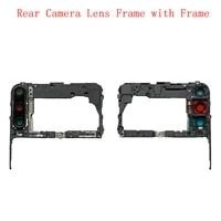 rear back camera lens glass with frame holder for huawei p40 lite e replacement repair spare parts