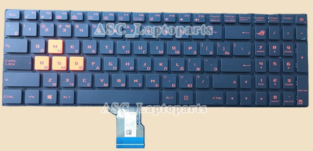 Novo teclado português teclado para asus rog gl502vm gl502vs gl502vy gl702vs gl702vm gl702vm gl702vt gl702zc (laranja waswasd) lap
