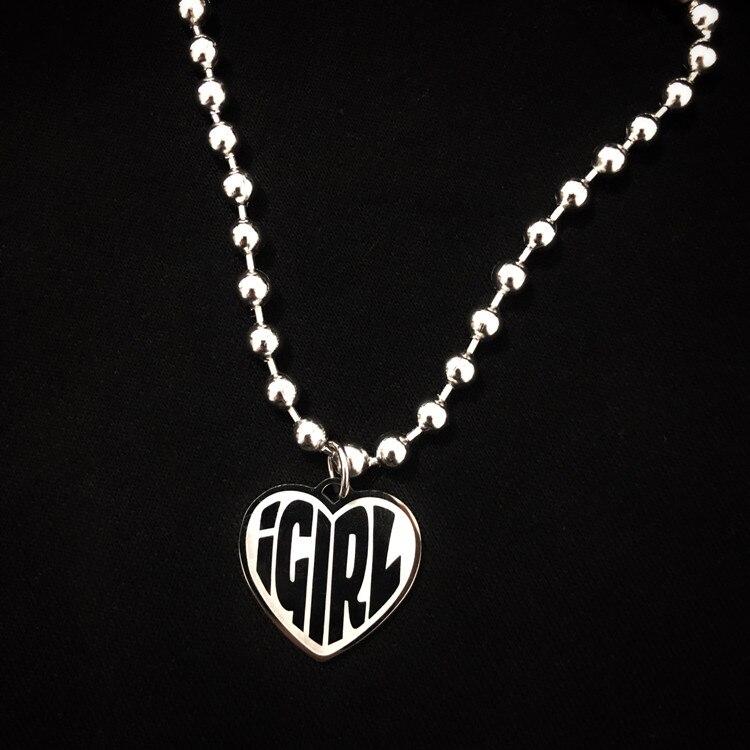 De acero inoxidable IGIRL Collar de corazón pesado gótico Streetwear cadena Collar gargantilla Collar de Metal de alto pulido