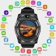 2019 montre intelligente Bluetooth écran tactile Android étanche sport hommes et femmes montre intelligente avec caméra SIM carte slot PK DZ09