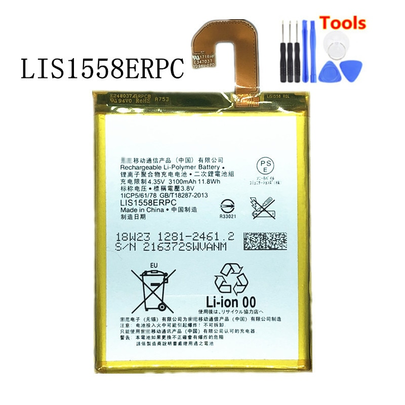 New 3100mAh LIS1558ERPC Replacement Battery For Sony SONY Xperia Z3 L55T L55U D6653 D6633 D6603 Bateria  + Free Tools