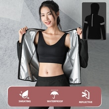 Fitness sweatwear women's suit reflective coat Gym workout sports clothing yoga pants Plus size 2 piece sets outfits tracksuit