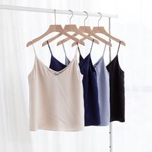 women loose tank top fashionable silky satin tank top for all seasons M30500