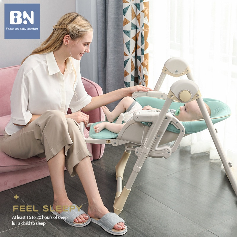 BN Muti-function Baby High Chair Adjustable Foldable Dining Table and Chair for 0-4 Years Children Kids Feeding