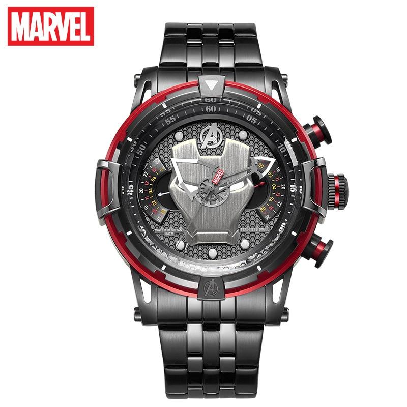 Marvel Iron Man Men's Watch Waterproof Quartz Watch Fashion Casual 5-pin Multifunction Men's Watch