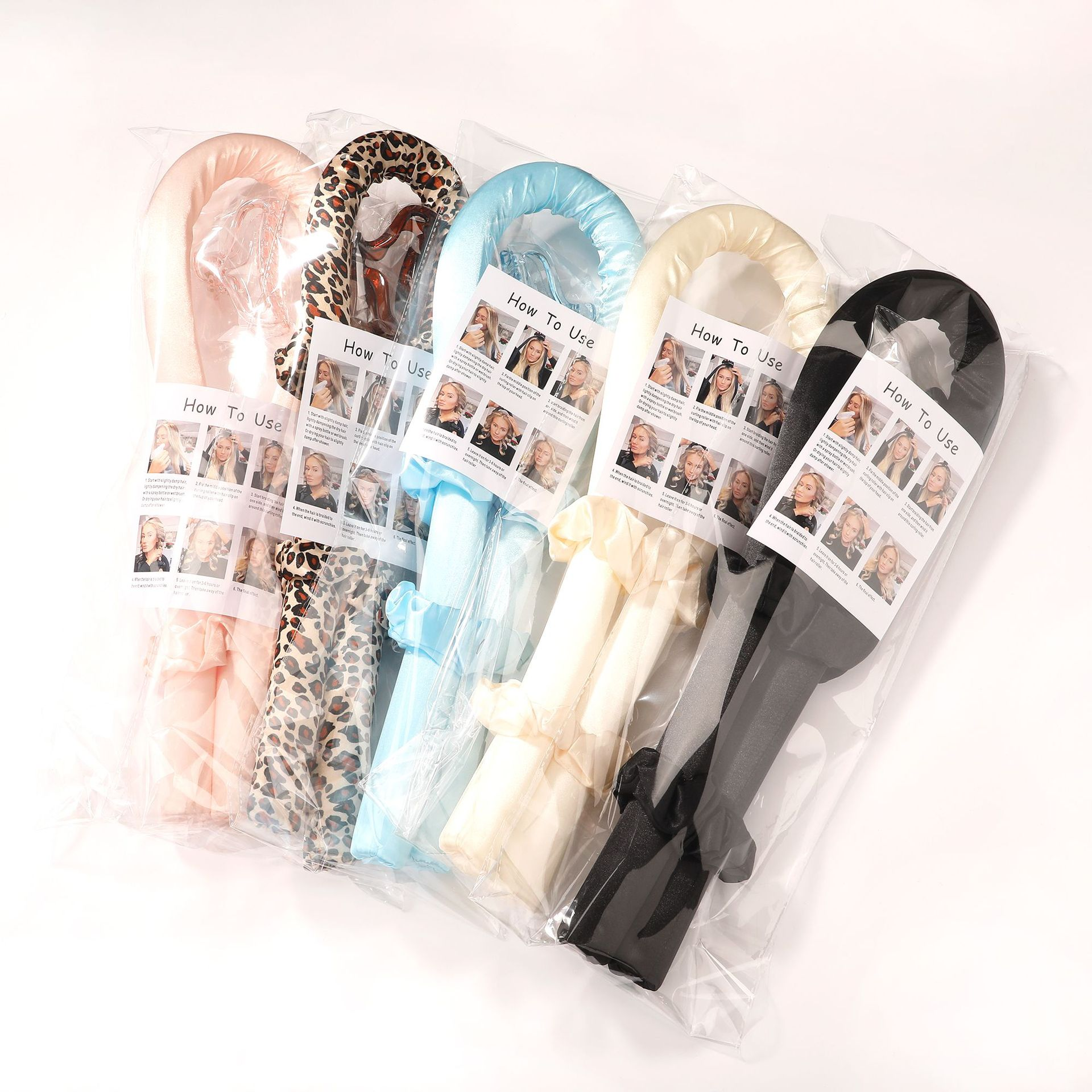 2021 Trendy Curly Hair Rollers And Scrunchies Hair Accessories Set Lazy Curling Rod Wavy Hair Sponge Hairstyle Bun Maker