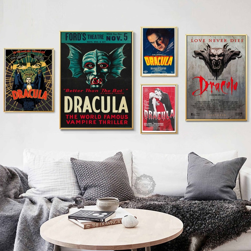 Top-Rated Cópia Da Lona Clássico Horror Filme Drácula Hot Pintura Arte Moderna Decorativa Silk Canvas Poster Parede Home Decor