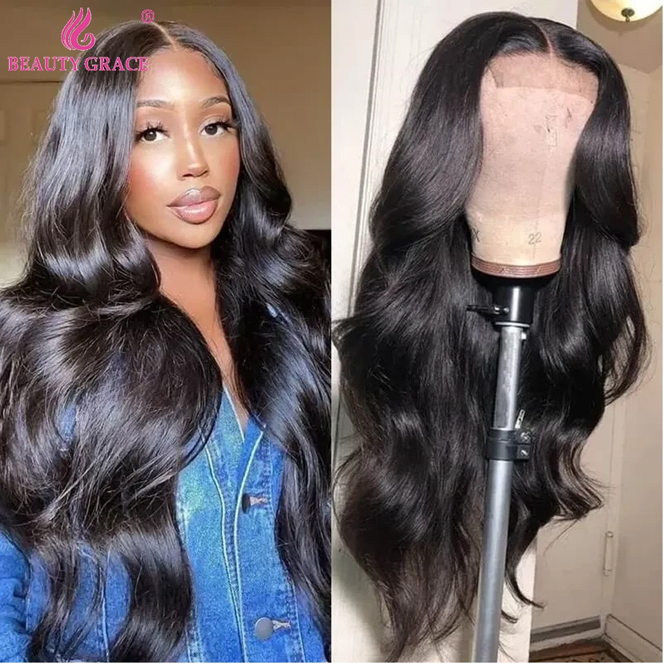 Body Wave Wig Lace Front Human Hair Wigs Brazilian Human Hair Wigs Remy Lace Frontal Wig Pre-Plucked Closure Wig for Women