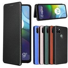 For Motorola Moto G9 Power Case Luxury Carbon Fiber Skin Magnetic Adsorption ShockProof Case For Mot
