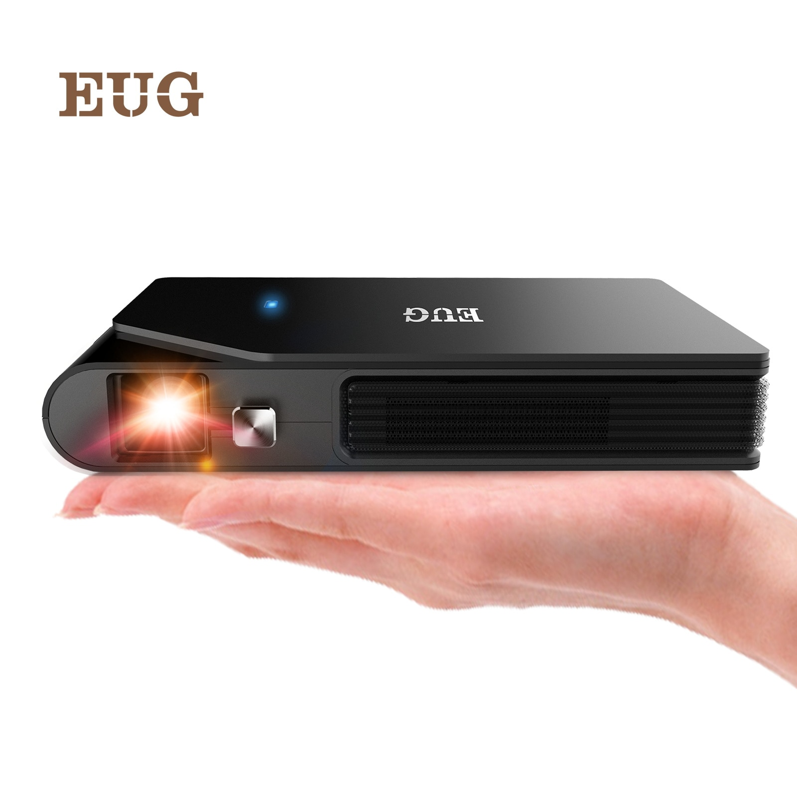 Mini Wifi 3D DLP Projector Small Outdoor Portable Wireless Movie Projector HD Support 1080p Airplay