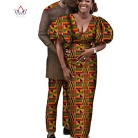 africa style couples clothing for sweet lovers bazin long women dress mens sets dashiki plus size wedding clothing wyq617