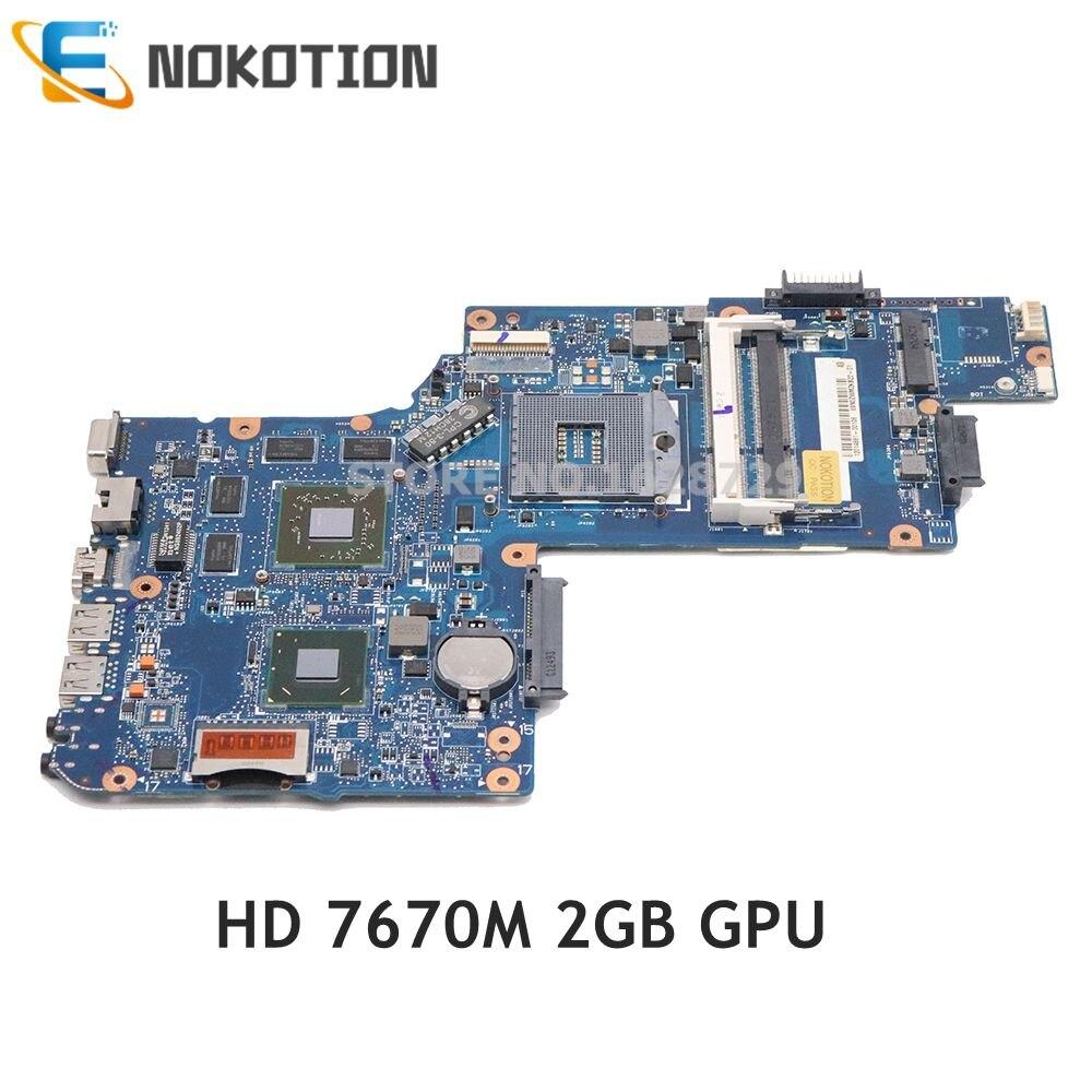 NOKOTION H000051770 H000038410 H0005275 материнская плата Toshiba Satellite C850 L850 материнская плата для ноутбука HM76 DDR3 HD7670M 2 ГБ графика