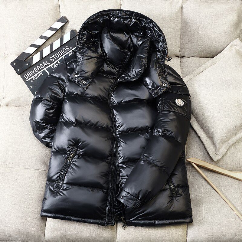 High Quality Down Jacket Male Winter Parkas Men 90%White Duck Down Jacket Hooded Outdoor Thick Warm Padded Snow Coat Size 3XL