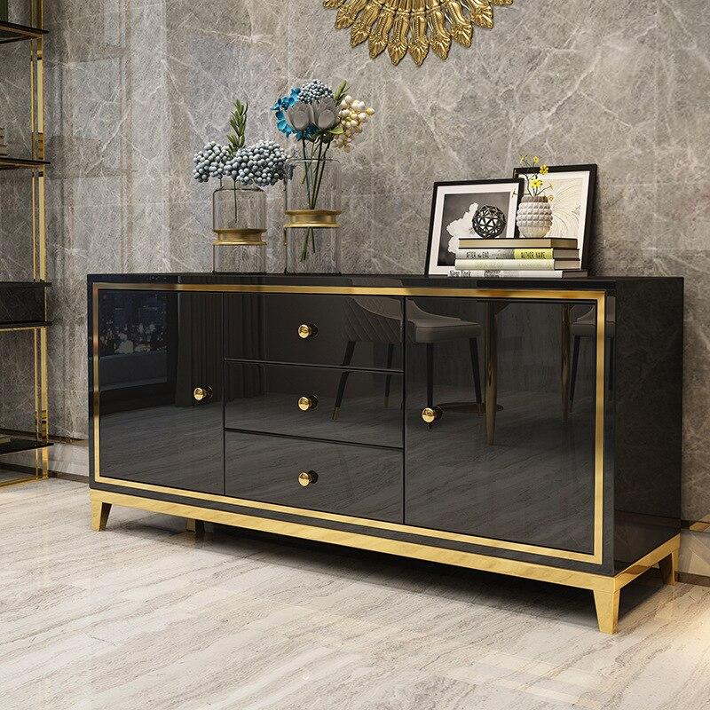 Armario lateral de lujo ligero y moderno, aparadores de almacenamiento en habitación,...