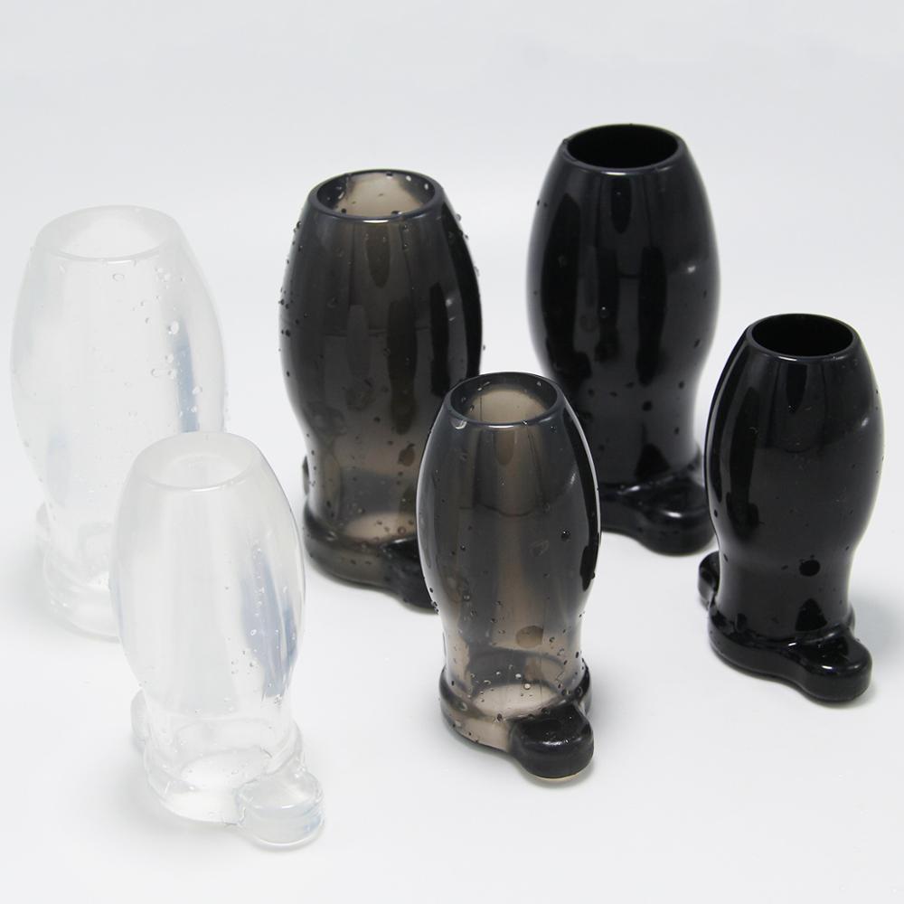 2 размера полые анальные пробки мягкий расширитель простаты массажер простаты Анальная пробка секс-игрушки для женщин мужчин анальный расш...