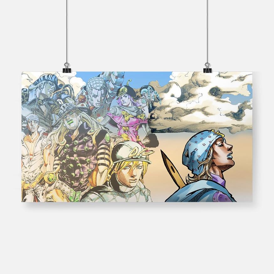 Decoración del hogar, Jojo S Bizarre, pintura en lienzo, arte de pared, póster de animación Popular, imágenes modulares para fondo de cabecera