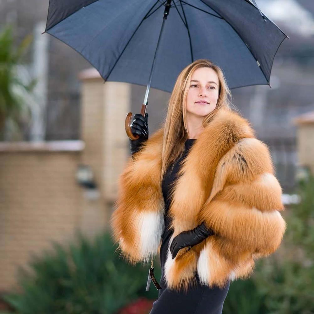 جديد 2021 الفاخرة 50 سنتيمتر الفراء قصيرة أبلى ريال فوكس الفراء معطف كامل الجلد الطبيعي الذهب الثعلب فرو سترات للنساء الشتاء المعطف