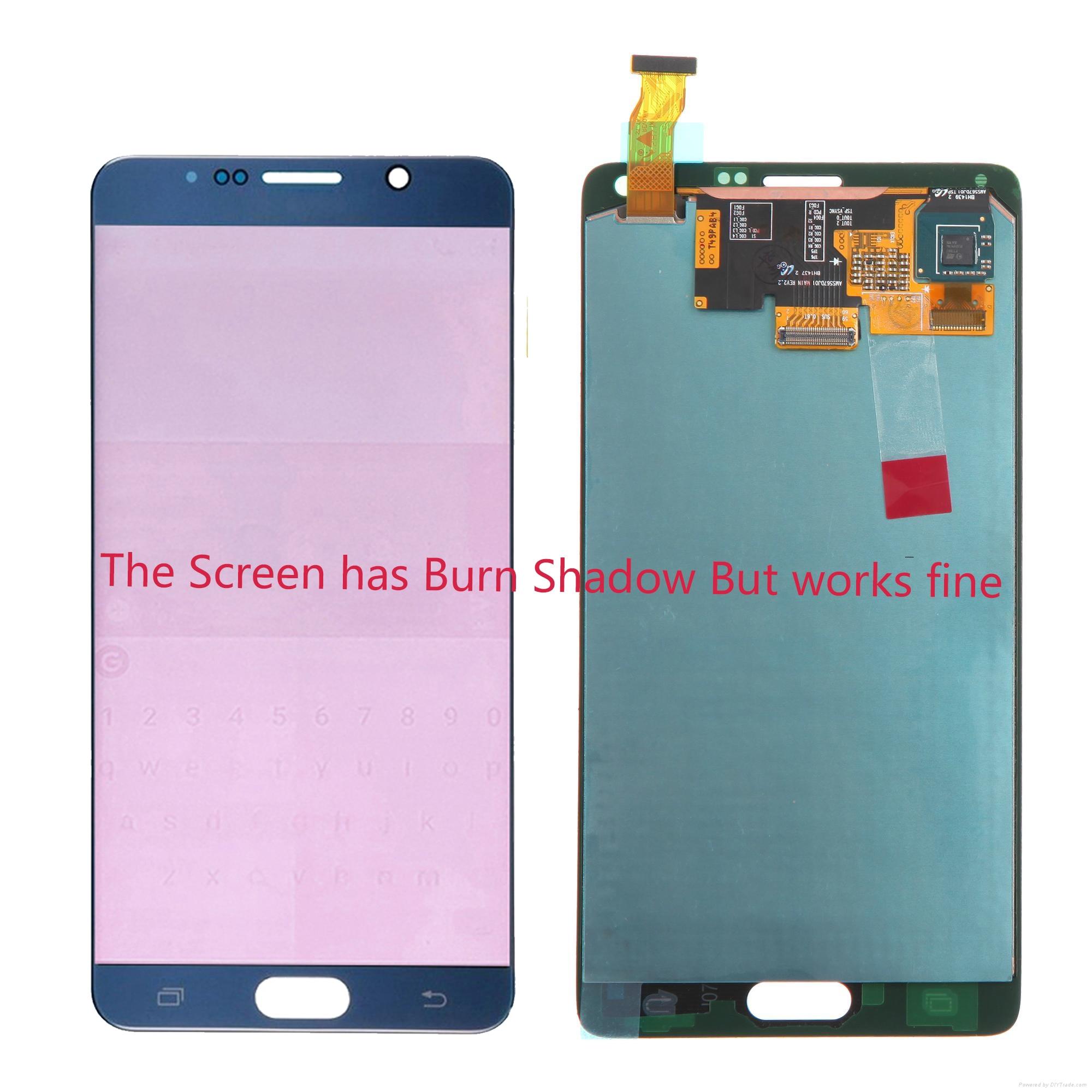 شاشة لمس LCD ، 5.7 إنش ، لهاتف SAMSUNG GALAXY Note 4 N910A N910F N910C ، Burn Shadow AMOLED
