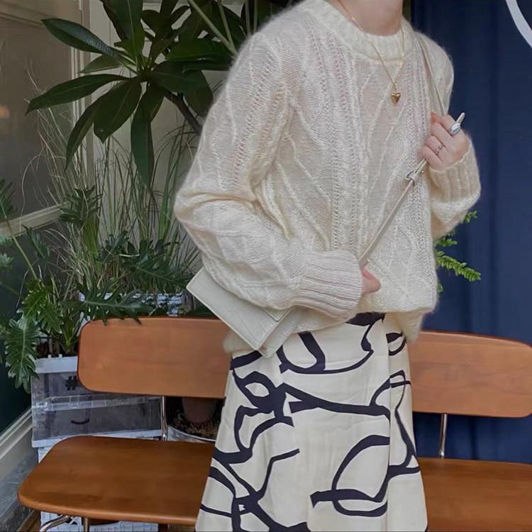 SHUCHAN 60% Mohair SWEATER WOMEN O-Neck Dropshipping Pink Wool Spandex Acrylic High Street  Autumn Winter Full Sleeve enlarge