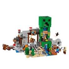 Creeper Mine bloc de construction avec figurine Compatible 21155 MinecraftINGlys mon monde briques ensemble cadeaux jouets