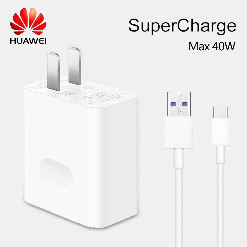 Huawei Supercharge Original Carregador Rápido Max 40W 10 V/4A 5 V/4A Com 5A Cabo Para huawei P30 Nova 5 Pro Companheiro 20 Pró Honra Magia 2