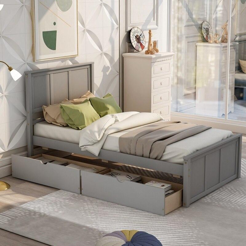 Holz Plattform Bett Mit Schublade Hause Schlafzimmer Möbel Verdickung Plattform Bett Holz Bett Rahmen