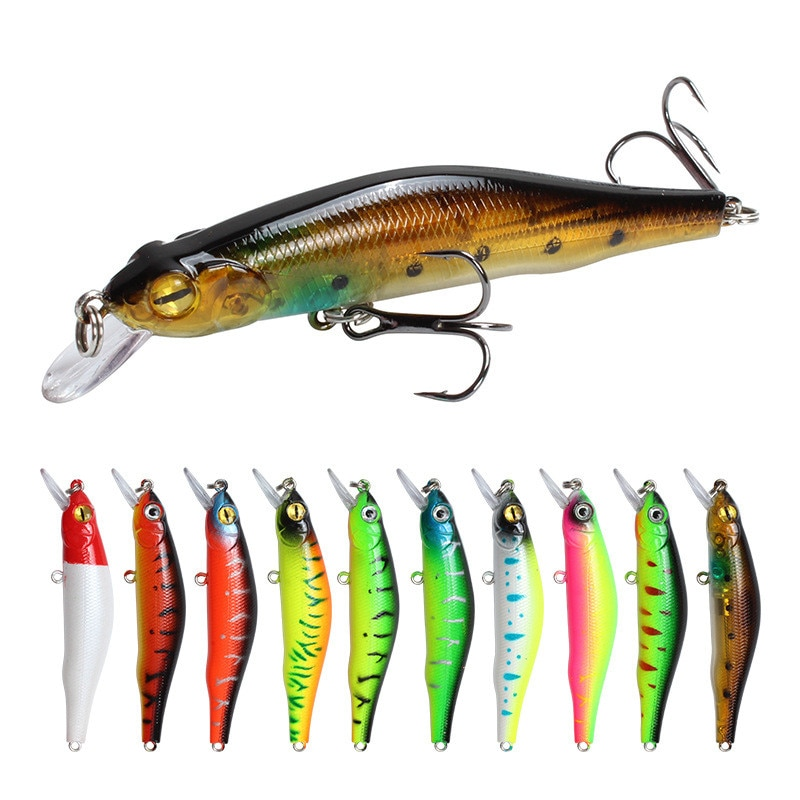 1pcs Sinking Minnow Fishing Lure Wobblers Hard Artificial Bait 3d Eyes 8cm 8 5g High Quality Crankbait Plastic Baits Fish Pesca Fishing Lures Aliexpress