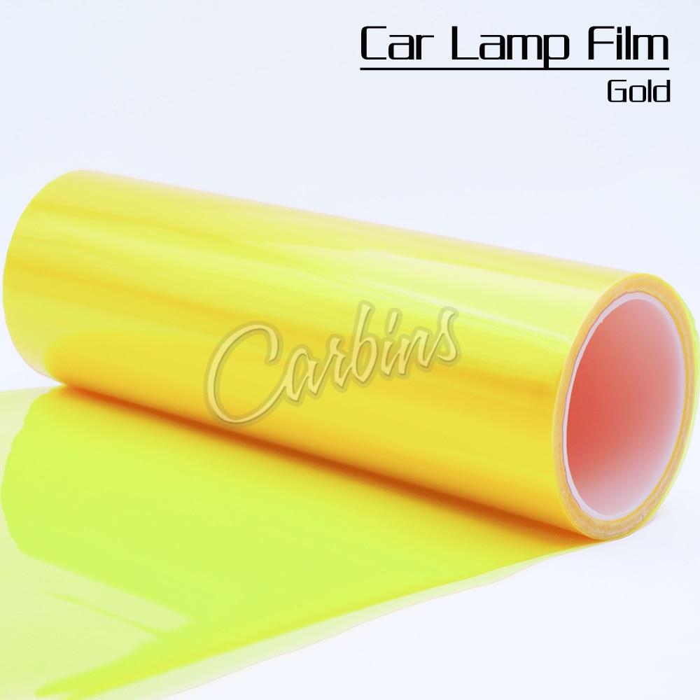 30x200cm ouro matiz filme nevoeiro luzes da cauda faróis matiz carro van envoltório para luzes traseiras faróis auto etiqueta lateral