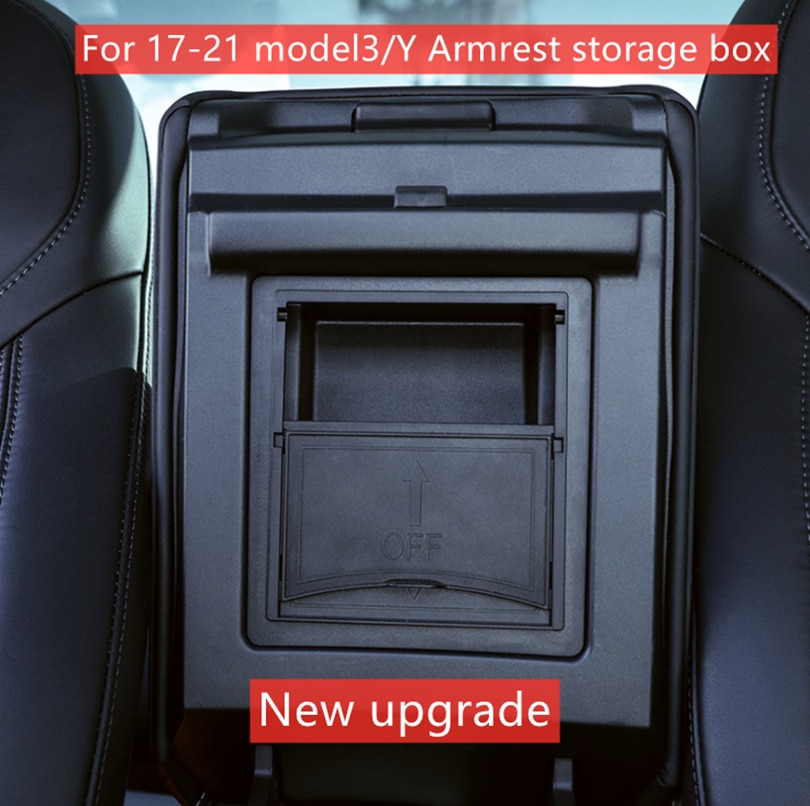 for tesla model 3 accessories car central armrest storage box auto container wallet phone glasses organizer case stowing tidying Tesla Model 3 Y Center Console Organizer Armrest Hidden Storage Box For 21 Tesla Model 3 Car Accessory Auto Armrest Holder Box