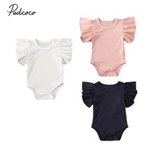 Vêtements dété pour bébé, combinaison en coton à manches courtes, solide, côtelée, collection pour nouveau-né et nouveau-né, 2020