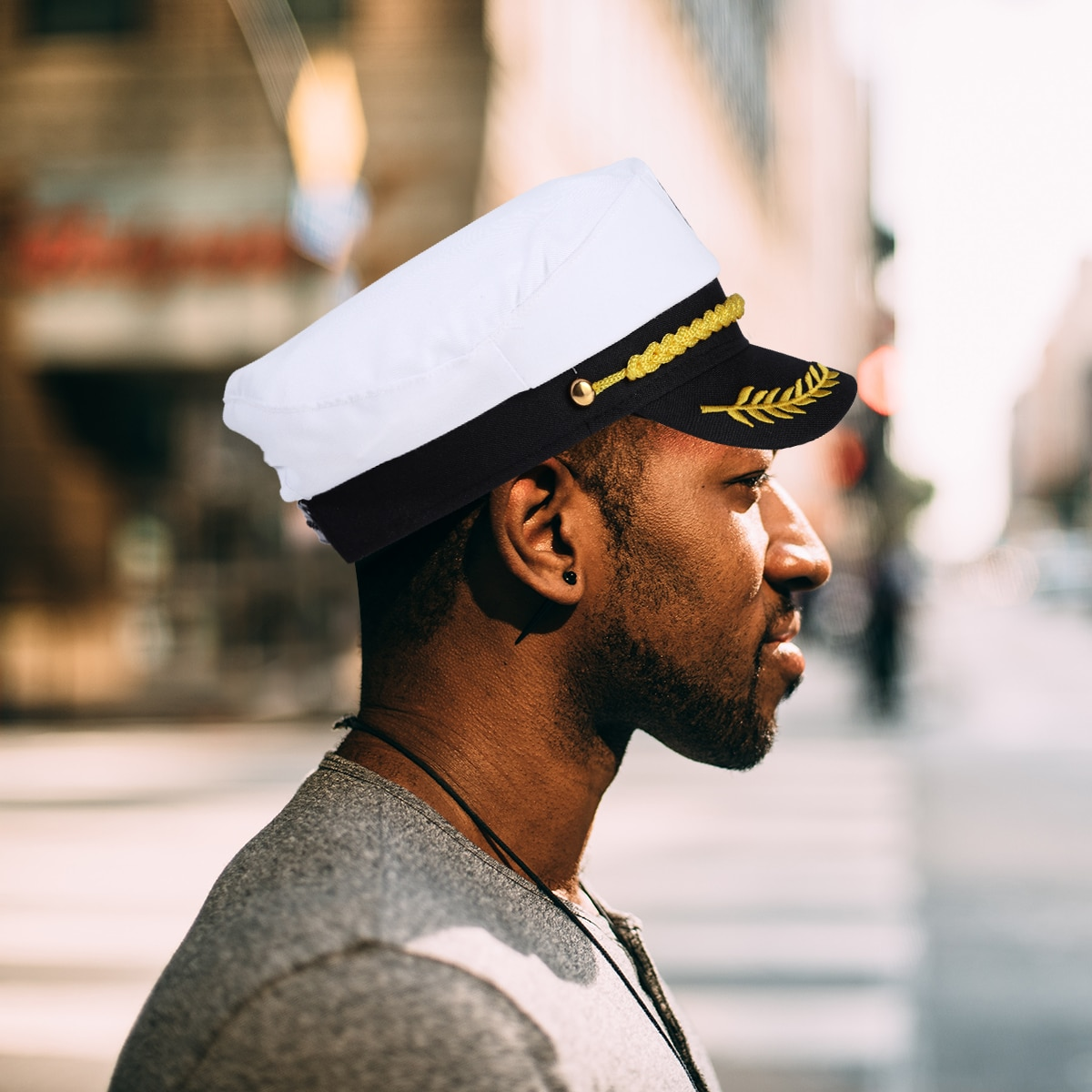 navy emporium uss sand lance ssn 660 framed navy ship display Adult Captain Hat Military Hats Boat Skipper Ship Sailor Costume Hat Adjustable Cap Navy Marine Admiral for Men Women