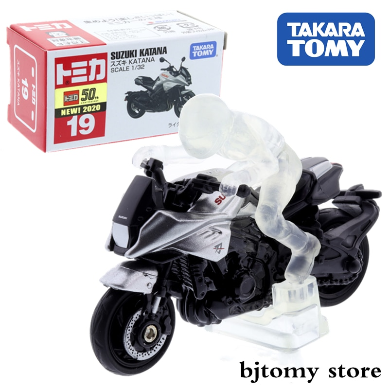 Takara Tomy Tomica # 19 Suzuki KATANA Silver M. Driver Figure Scale 1/32 Car Hot Pop Kids Toys Motor Vehicle Diecast Metal Model