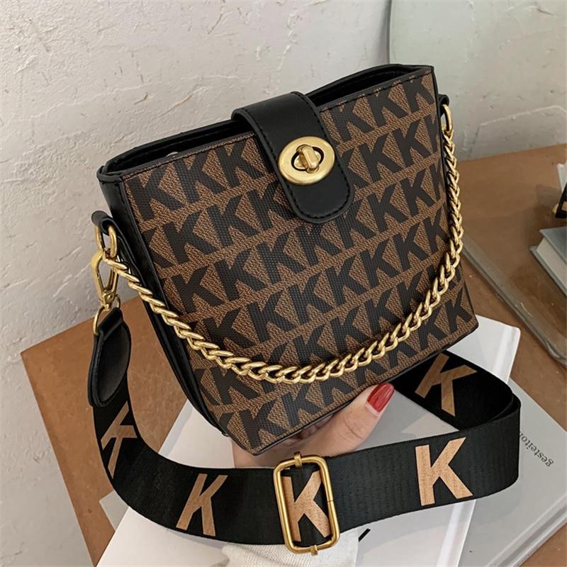 Vintage Casual Bucket Women Shoulder Crossbody Messenger Bags 2021 New Brand HandbagsLadiesFemale Purses and Luxury Designer