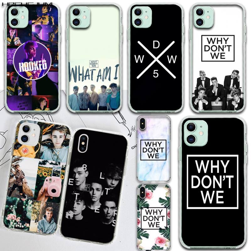 HPCHCJHM Why Dont Do Not We WDW Black Soft Shell Phone Case Capa for iPhone 11 pro XS MAX 8 7 6 6S Plus X 5S SE 2020 XR cover