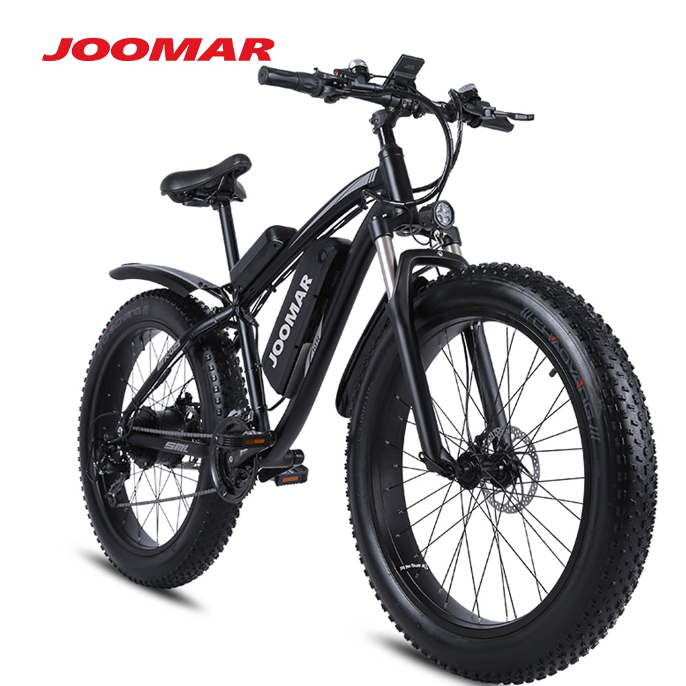 JOOMAR 1000W Electric Bike Fat Tire Ebike 26inch Top Aluminum Alloy Outdoor Beach Mountain Bike Snow Bicycle Cycling MX02S Plus