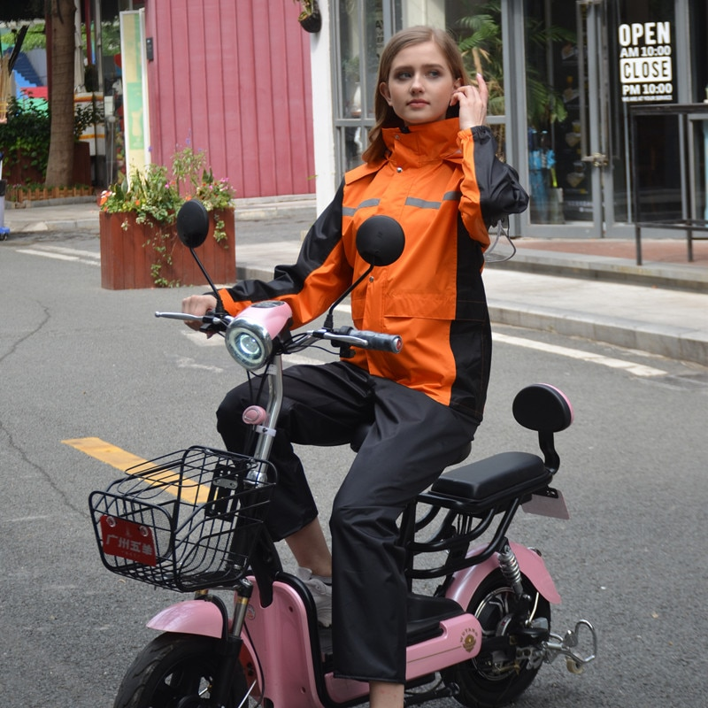 Portable Raincoat Pants Hiking Poncho Motorcycle Rain Suit Protection Suit Rain Gear Personal Protective Regenbroek Home Eg50yy enlarge