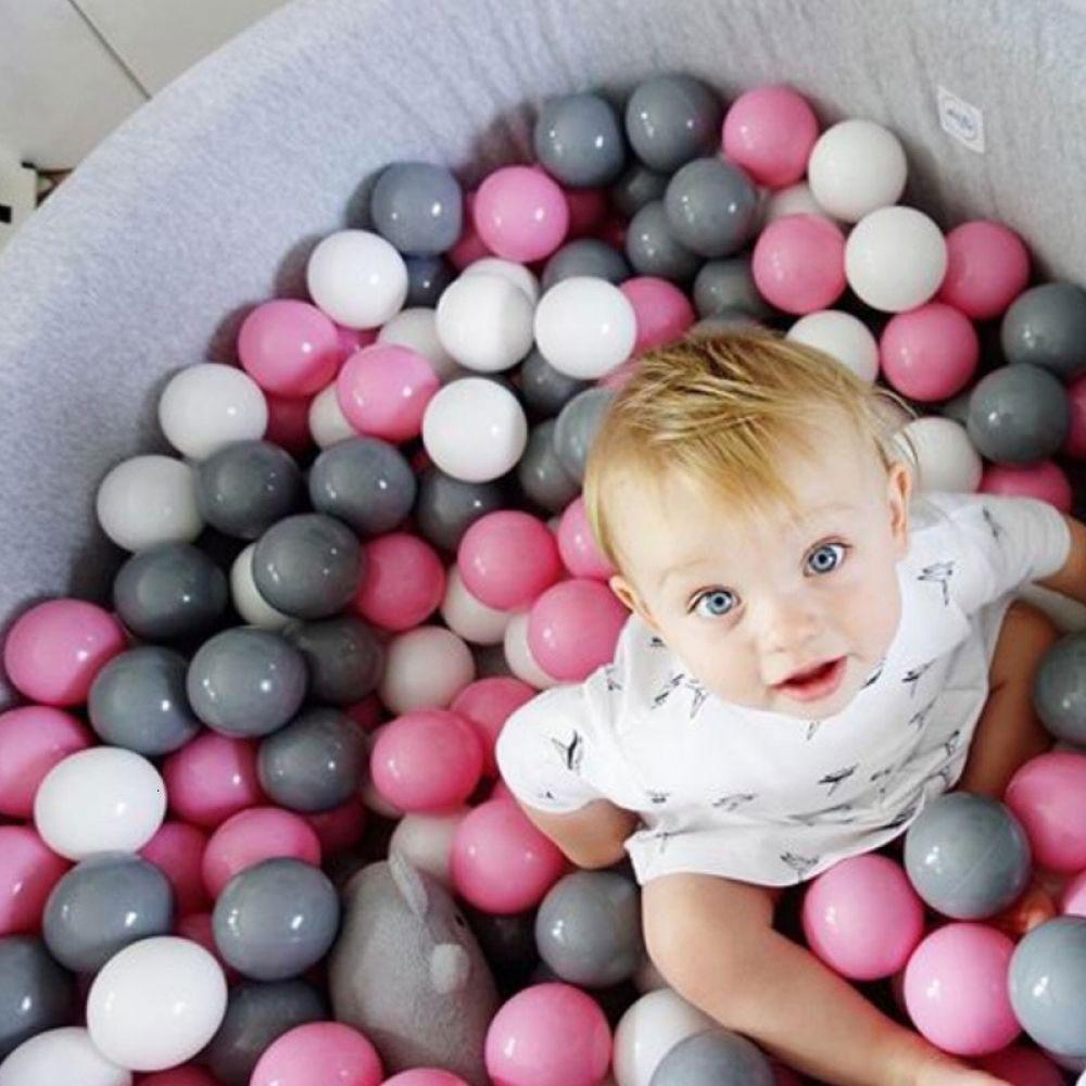 100 Pcs/lot Eco-friendly Colorful Balls Toys for Boys Ball Pool Ocean Wave Ball Pit Soft Plastic Balls Dia 5.5CM 7CM