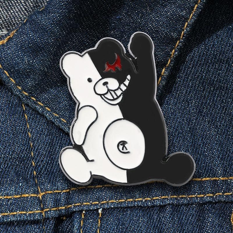 Творческие эмалевые значки в стиле аниме «данганронпа», Значки для рюкзака, воротника, лацкана, шляпы, ювелирные изделия, подарки для друзей
