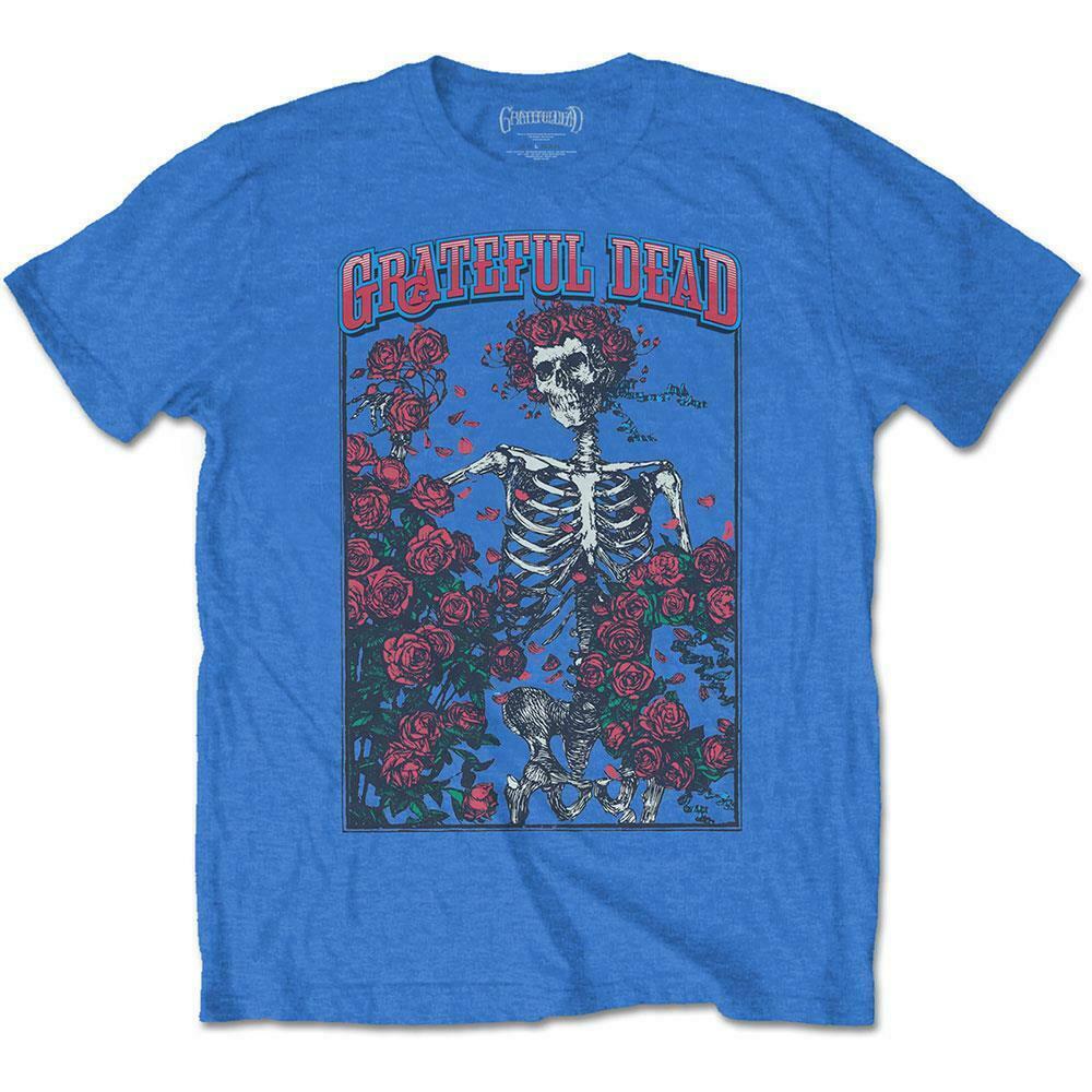 Oficial licenciado grateful dead bertha e logo t camisa rocha