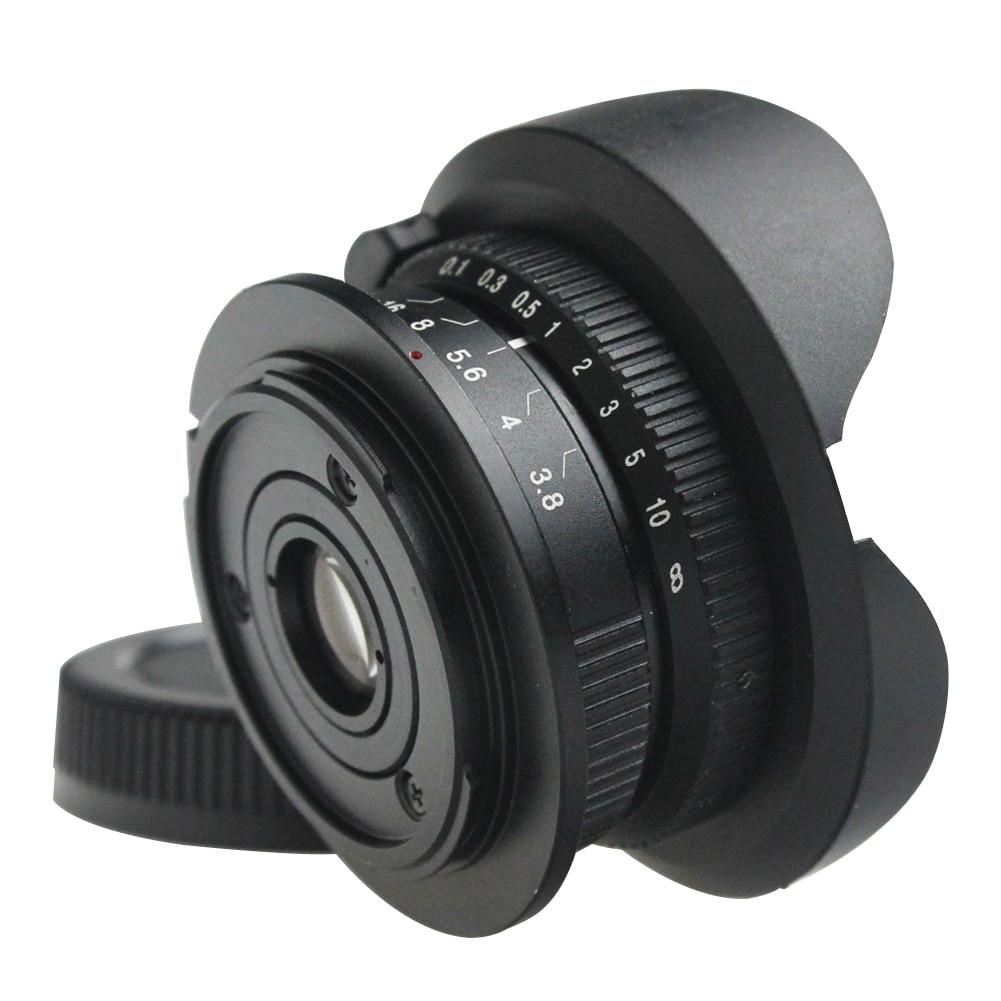 EM5 Alta Resolución gran angular fotografía profesional M43 OMD Cámara ojo de pez lente 8mm F3.8 portátil MFT Manual para Olympus