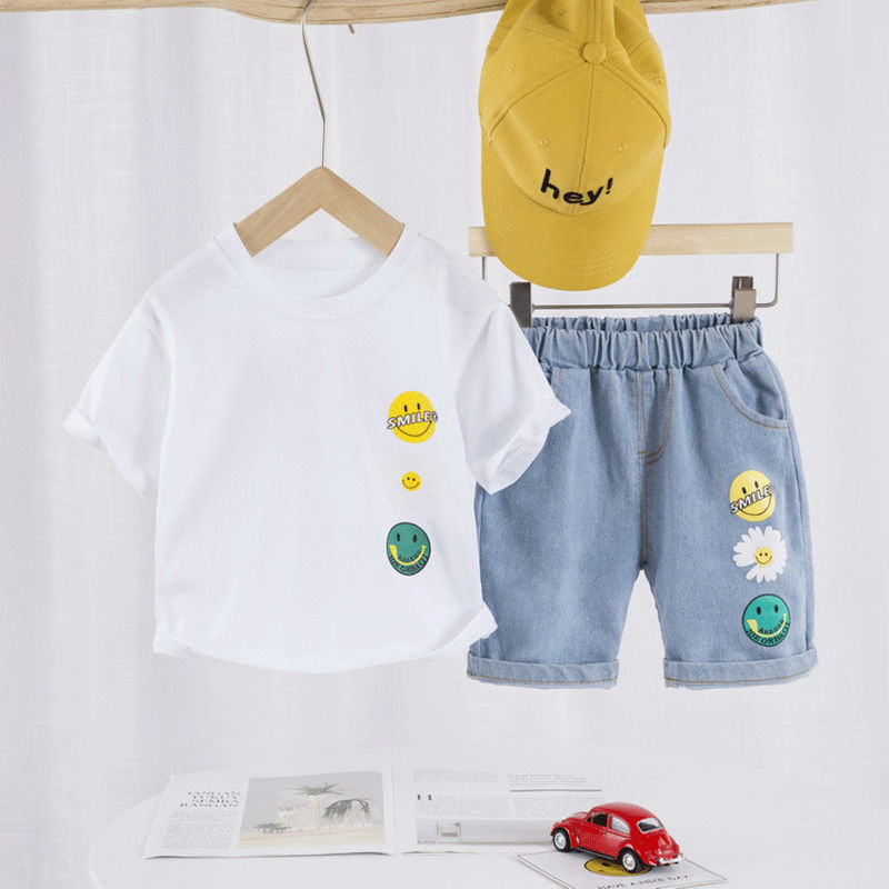 Summer New Kids Clothing Sets Print Children's Clothing Casual Baby Boys Clothes T-Shirt+Shorts 2 Pcs Children Clothes Boy 1-4 Y