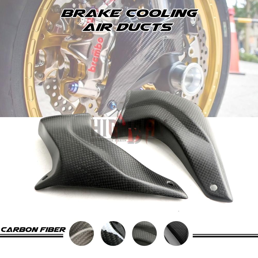 100 مللي متر للدراجات النارية اكسسوارات الجبهة الكربون الفرجار تبريد الفرامل الهواء القناة ل Ducati 1198S 2009-2010